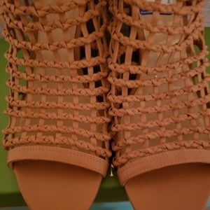New Vince camuto Brown Wedge Caged Sandals